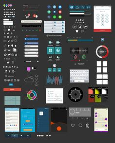 250+ Mobile Application Elements @creativework247
