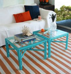 Vintage coffee tables online l Eco friendly furniture - For the Home - Design Rattan Furniture Furniture Design, Furniture Diy, Painted Furniture, Bamboo Furniture Makeover, Furniture, Cane Furniture, Painted Bamboo, Green Furniture, Bamboo Furniture Diy