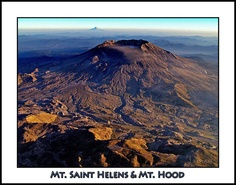 Mt. St. Helens-- I seen this from an airplane when I was 8 years old (1980) right after the eruption, on a family trip to Orgean.