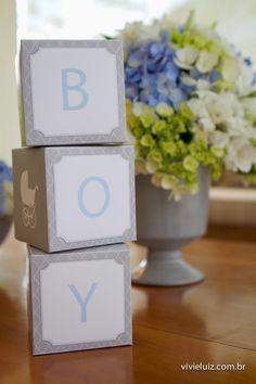 Chá de Bebe Meninos por Bella Fiore  Baby Shower for boy by Bella Fiore