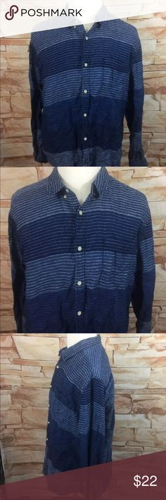 """Lucky Brand California Fit Button Front Shirt Lucky Brand  California Fit  Button Front Shirt  Mens 2XL XXL   Long Sleeve Button Up 100% Cotton  Measurements Approximate: Shoulder to Shoulder - 21"""" Armpit to Armpit - 26"""" Sleeve Length - 25"""" Shirt Length - 31"""" Lucky Brand Shirts Casual Button Down Shirts"""