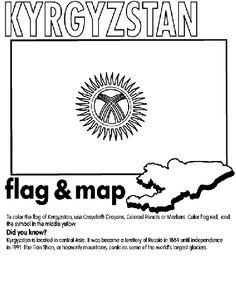 Kyrgyzstan coloring page