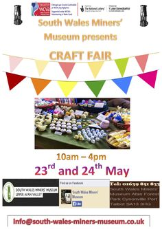 South Wales Miners' Museum will be running its Craft Fair event on the 23rd and 24th May. Come along and check out beautifully crafted unique objects that our Craft Stall holders have created and are offering to you.
