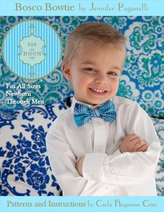 Complimentary bow tie pdf pattern. (I made one and it turned out awesome! Thanks to Carla C who makes awesome patterns.)