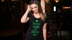 Irish Keep Calm and Chive On Tee