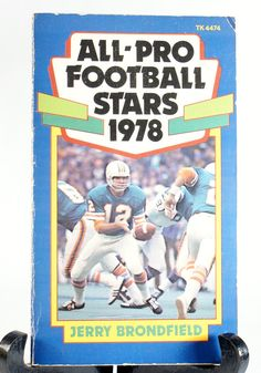 All Pro NFL Paperback Stars Football Book by DoorCountyVintage