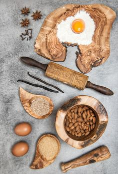 Baking Ingredients and spices by LiliGraphie on @creativemarket