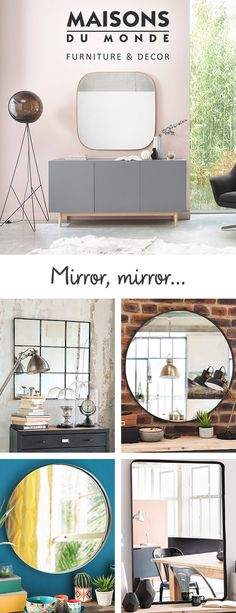 We have a curated collection of classic and contemporary mirror designs, covering everything from bedroom mirrors to hanging mirrors, bathroom mirrors to wall mirrors, so you're sure to find the perfect piece that will double as a striking home accessory.   Maisons du Monde
