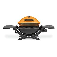 Weber 51190001 Q1200 Liquid Propane Grill, Orange  Restyled for 2014, the Weber Q 120 is now the Weber Q 1200. The grill has the same great performance and sleek styling, but adds new aesthetics that are both functional and fun, including larger grip handle and control knobs, ergonomic side handles, sturdy front and rear cradles, larger-sized fold-out side tables with greater rigidity plus the familiar Weber Q logo branded in the lid. Split grates allow for a grate/griddle cooking co..