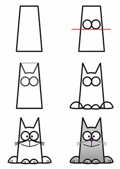 How to draw a cat step 3