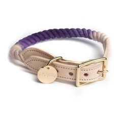 Brooklyn-Made Rope Collar for Dog and Cat in Purple Ombre
