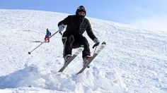 AFGHANISTAN ADVENTURE TRAVEL: Herat, a city once occupied by Alexander the Great in 330BC, is seeking to capitalise on its relatively safe image to bring in more tourists. Pictured: An Afghan competitor takes part in the annual ski challenge event in Bamiyan province.