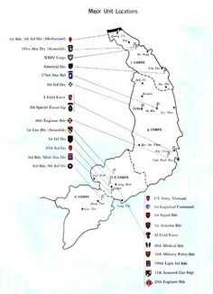 Vietnam Map With Army Units Vietnam Pinterest Vietnam Army - Map of us military bases in vietnam