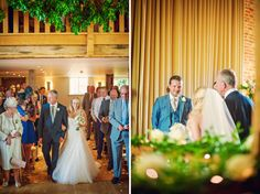 Beautiful #wedding at The Barn at Bury Court. #Bride & #groom meet in the #ceremony.