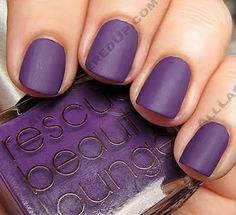 matte purple nails
