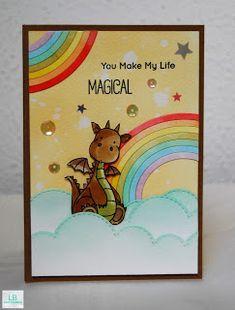 You make my life magical   MFT #mftstamps #mamaelephant #distressinks #dragon…