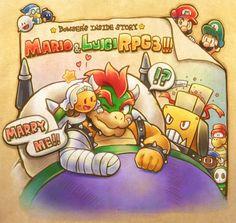 Mario & Luigi 015 (Mario & Luigi - Bowser's Inside Story - Bowser & Chippy)