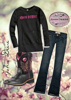 """John Deere Chick"" by jtbenton on Polyvore"