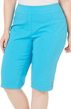Alia Plus Tech Stretch Solid Skimmer Pull-On Shorts Pants Pattern Free, Plus Size Peplum, Modelos Plus Size, Chor, Skirt Outfits, Slacks, Fashion Outfits, Womens Fashion, Plus Size Outfits