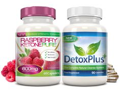 Raspberry Ketone Pure 600mg Colon Cleanse™ Combo Pack (1 Month Supply)