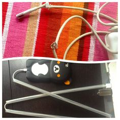 """Tired of your kitten eating your expensive power cords (seriously Apple, $80 for a new laptop cable)?? Cover them up! Do some """"upcycling"""" and some preservation of your assets at the same time! I made a jointed iPhone cable cover with my giant Baja Fresh cup's straws! Suck it kitty!"""