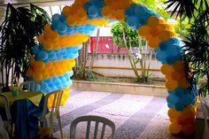 Como Fazer Tunel de Balão  TUTORIAL BALLOON DECORAÇÃO