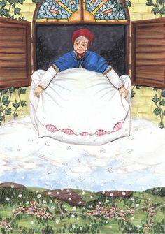 Frau Holle, Grimm`s Fairy Tales, Skogflickan Magick Spells, Wicca, Origami, Kings Day, Supernatural Beings, Grimm Fairy Tales, Winter Solstice, Deviantart, Book Of Shadows