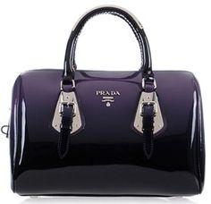 patent leather purple Best Replica Prada handbag 2012