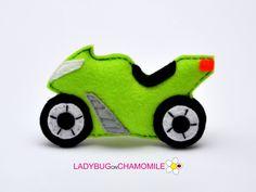 SUBERBIKE. MOTORCYCLE. FELT TOY