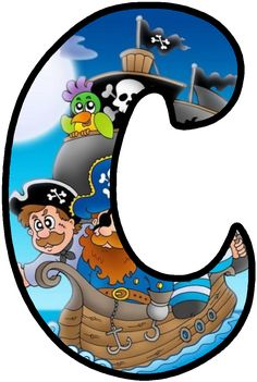 Alphabet Letters Design, Alphabet And Numbers, Pirate Font, Bad Eggs, Number Art, Letter Of The Week, Corpus Christi, Pirate Party, Shrek