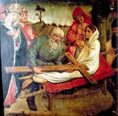 Kreuzprobe durch die Hl. Helena 1480-1490; Bardejov; Slowakei; Pfarrkirche St. Ägidius  http://tarvos.imareal.oeaw.ac.at/server/images/7012287.JPG
