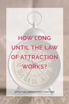 How long to see results with the law of attraction? Can you make the law of attraction work faster? Read this article to find out...