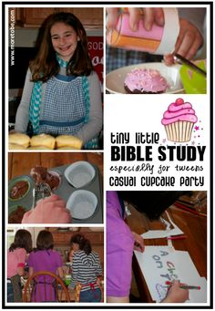Cupcake Party with activities and Bible study. Use for cake decorating?