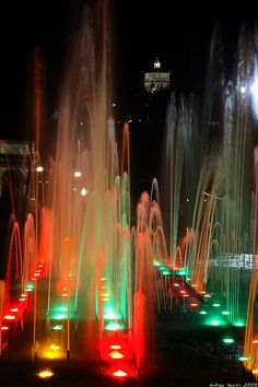 Torino - Parco del Valentino, La Fontana Luminosa Turin, province of Turino , Piemonte region Italy