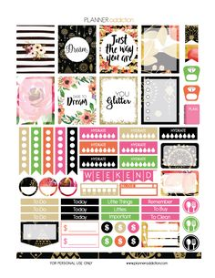 Happy Friday  This is a free Printable Planner Stickers sheet on the theme of…