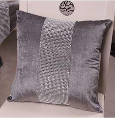 # 954 El último coche del sofá de lujo de diamantes de lujo cama Europea tela de terciopelo cuidado funda de almohada cojín