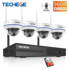 Techege 4CH Wireless NVR 960P CCTV WiFi System 1.3MP IR Outdoor indoor Vandalproof IP Camera Security Video Surveillance Kit Review 4 Channel, Surveillance System, Ip Camera, Night Vision, Indoor Outdoor, Wifi, Lens, Phone, Telephone