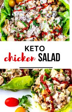 Making a low carb lunch is a breeze with this Keto Chicken Salad! You are going to love how quick it is to make, and with just one net carb a serving it will help you stay on track with your macros. Serve it by itself, in a low carb tortilla, or lettuce wraps. Perfect for meal prep, this recipe can be kept in the refrigerator for up to five days. Keto Lunch Ideas, Lunch Recipes, Whole Food Recipes, Low Carb Chicken Salad, Low Carb Tortillas, Low Carb Lunch, Baked Chicken Recipes, Lettuce Wraps, How To Make Salad