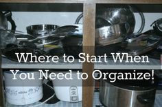 Don't Start Organizing! on http://blog.aboutone.com