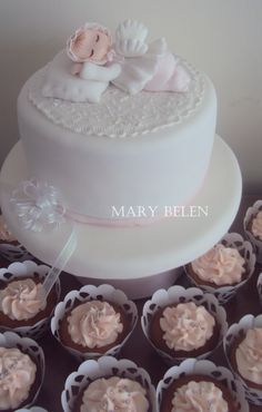 torta angelito bautizo