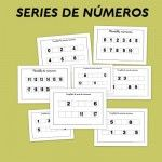 Fichas de matemáticas para repasar las series de números