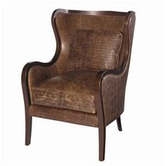 Lexington Leather Dakota Chair with Attached Back by Lexington Home Brands - Baer's Furniture - Wing Chair Miami, Ft. Lauderdale, Orlando, Sarasota, Naples, Ft. Myers, Florida