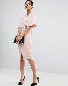ASOS Clean Obi Wrap Dress