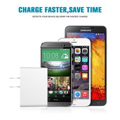Wall Charger - Universal 10W 2-Port Charger with SmartQ Technology | #cellphonegadgets #mobileaccessories www.nootworld.com