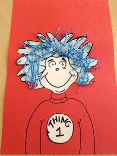 Simple Dr. Seuss craft for preschoolers. Get the step-by-step directions here --> http://www.mpmschoolsupplies.com/ideas/6963/thing-1-thing-2-dr-seuss-craft-for-preschoolers/