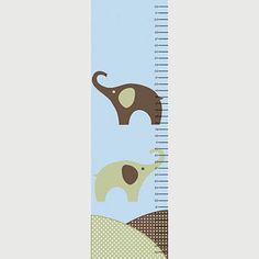 Personalized growth chart - green elephant matte