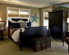 bedroom tan and black