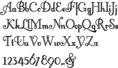 Different Font Styles Alphabet | ... Styles-Decorative Fonts-Typographic Design Elements-Flourishes