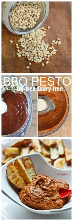 Barbeque Pesto! A new twist on classic pesto. So delicious, so easy and goes great as dips, toast and even pizza sauce! #vegan #glutenfree #oilfree #barbecue #bbq #pesto #thevegan8 ALL 8 ingredient recipes at http://TheVegan8.com