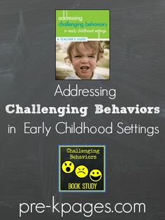 Addressing Challenging Behaviors in Early Childhood